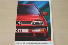 184169) VW Golf III + Variant - Rolling Stones - Prospekt 04/1995