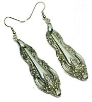 Spoon Earrings Vintage Oneida Community Artistry Silverware Plate Jewelry
