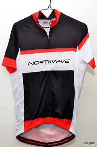 Maillot de Vélo - NORTHWAVE 89151072 Logo Jersey - Noir/Blanc/Rouge - T.M/L NEUF
