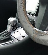 Gris Perforé Volant en cuir couverture pour Nissan Patrol 5 marron double St