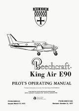 BEECH KING AIR E90 - PILOT'S OPERATING MANUAL AND FAA APPROVED FLIGHT MANUAL
