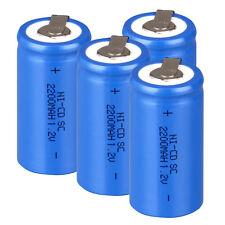 1~24 PCS Blue Rechargeable Battery Sub C SC 1.2V 2200mAh Ni-Cd Batteries