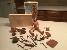 Vintage Louis Marx Chief Cherokee Action Figure W/ Box and Many Accessories
