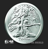 1 Troy Ounce 2019 TRIVIUM Girl Silver Shield Round .999 Pure AG BU Trivium NEW