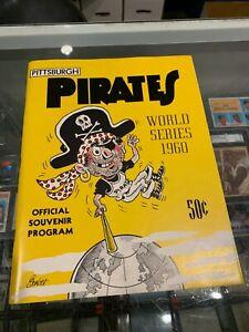 1960 PITTSBURGH PIRATES NEW YORK YANKEES WORLD SERIES PROGRAM UNSCORED NM/MT