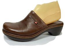 Ecco Leather Slip On Clogs Womens 38