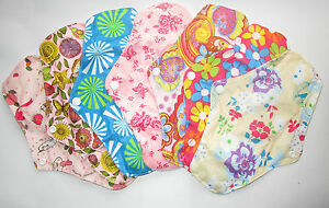 Reusable Menstrual Cloth Pads Sanitary Menstruation Period Cyle Pads 9.5 Inches