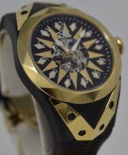 Mens WatchStar Superstar 49mm Automatic Stealth Fighter Jet Skeleton Watch