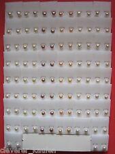 100 Ohrstecker Süßwasser Perlen - Restposten - Posten ideal für Wiederverkauf
