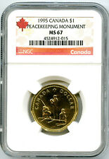1995 CANADA $1 PEACEKEEPING MONUMENT NGC MS67 DOLLAR LOON LOONIE TOP POP RARE