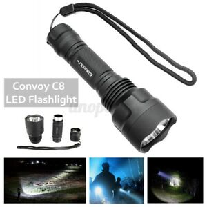 Tactical SMO Convoy C8 LED Handheld Super Bright Flashlight Removable  Host