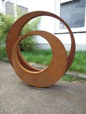 2st. Edelrost Gartenskulptur Rost Garten Figure 80*5cm und 60*5cm