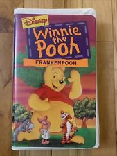 WINNIE THE POOH Frankenpooh VHS Tape Walt Disney Video Clamshell Halloween 1995
