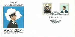 Ascension Visit H.R.H.Prince Andrew 1984 Illustrated First Day Cover Unaddressed
