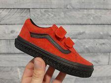 Vans OLD SKOOL Construction Red/Black Kids Shoes Size 11.5