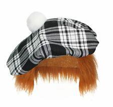 Bambino 8-12 Blu CACCIA Tartan TAM /'O/' Shanter con i capelli Scottish Highland Cappello