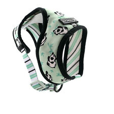 New listing Dog Harness Frenchie Small Dog Reversible Bre 00006000 athable Mesh Panda Pattern