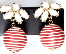 Single Ball Earring >New< Avon Jewelry Seaside Stripes