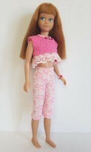 Vintage SKIPPER Doll Clothes pink Top, Capris & Jewelry HM Fashion NO DOLL d4e