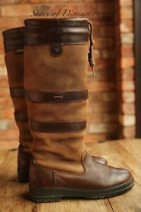 Dubarry Galway Brown Tan Leather Gore-Tex Wellington Country Boots UK 6 EU 39