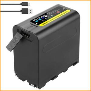 Battery Sony Charger 8800mAh For NP-F970 NP-F980 F960 F970 Battery with LED