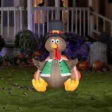 Say HAPPY THANKSGIVING! with this Outdoor 3.5ft Inflatable Lighted Happy Turkey