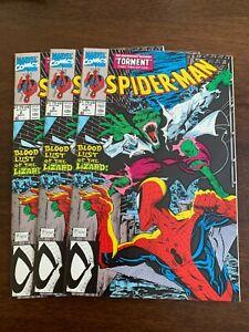 Spider-Man #2 (Sep 1990, Marvel) LOT OF 3 McFarlane art Lizard NM-s