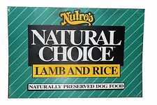 Nutro's Natural Choice Dog Food Metal Feed Farm Store Sign 36 x 24
