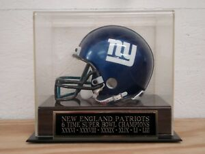 Patriots 6 Time Super Bowl Champs Football Mini Helmet Case With Nameplate