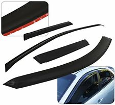 96-00 HONDA CIVIC EK 4DR 4 PIECE BLACK WINDOW RAIN GUARD VENT VISORS W/ 3M TAPE