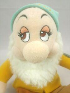 "BASHFUL Walt Disney World 11"" Plush Snow White 7 Dwarfs Gift Beanbag Toy Movie"