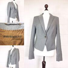 Drykorn For Beautiful People Grey Jacket 12 German Designer Wool Work Blazer U61