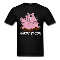 Making Bacon Pig Funny t shirt Men Women Casuals Short SLeeve tshirt