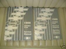1988 Chevrolet Astro Van Shop Manual Set NOS 2pcs