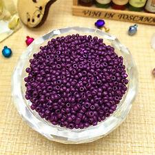 FREE SHIPPING 2mm 1000pcs 15g Lots Charm  Czech glass seed beads Craft Purple 3T
