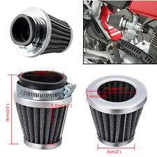 2Pcs 54mm Universal Motorcycle Tapered Chrome Pod Air Filters Cleaner For Ducati