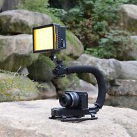 160 LED Video Light U Shape Bracket  Stabilizer Handle Grip For Camera Camcorder