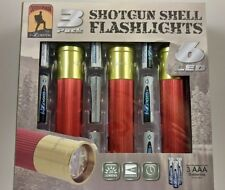 3 pack Shotgun Shell Ammo LED Flashlight Hunting Camping New 12 Gauge batteries