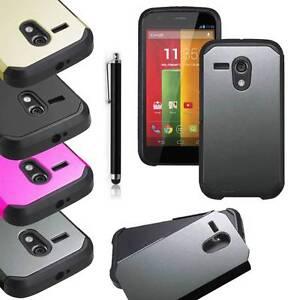 For Motorola Moto G Hybrid Impact Matte Box Shockproof Hard Case Cover w/ Stylus