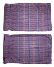 RALPH LAUREN RUTHERFORD PARK Purple Plaid STANDARD Pillowcases Set Lot of 2