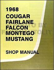 1968 Mercury Repair Shop Manual 68 Cougar Cyclone Montego Comet XR7 XR 7 MX