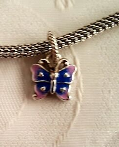 Brighton retired ABC Butterfly purple blue enamel charm J90652 B336