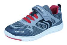Scarpe grigi sintetici marca Geox per bambini dai 2 ai 16 anni