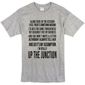 Squeeze Lyrics Up The Junction T-shirt - Music Song Fan Tee - Mens Ladies Style