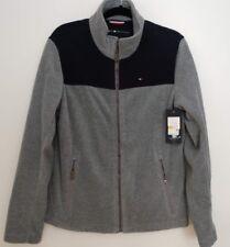 Tommy Hilfiger Full Zip Gray Polar Fleece Sweatshirt Jacket Mens sz. Small $160