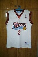 Philadelphia 76ers Champion NBA Jersey #3 Allen Iverson Basketball Men Size M