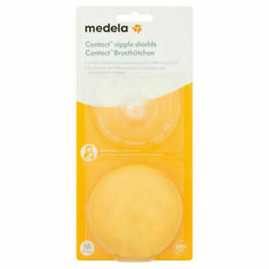 Medela Contact Nipple Shields With Case, Medium 20mm Nipple Shield NEW FREE P&P