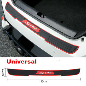 "35.4""/90cm Rear Bumper Guard Trunk Edge Sill Rubber Protector Cover For Car SUV"