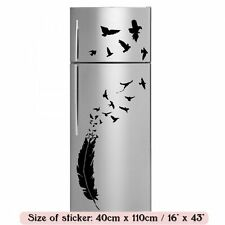 Romantic Feather and Birds Fridge Kitchen Stickers / Wall Decal 40cm x 110cm NEW