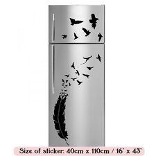 Romántico de plumas y aves Nevera Cocina pegatinas / pared calcomanía 40cm X 110 Cm Nueva